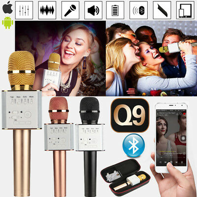 Q9 Wireless Karaoke Microphone KTV Bluetooth USB Player For iPhone iOS Android