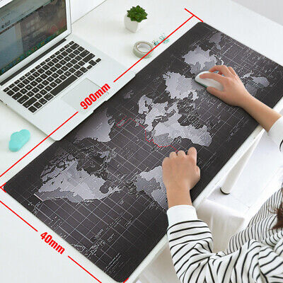 Large Size Non-Slip World Map Gaming Computer Table Desk Mouse Keyboard Pad Mat