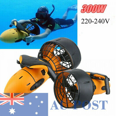 New 300W Sea Scooter 6KM/H Under Water Diving Beginners Dual Speed Propeller AU