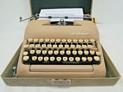 Vintage Smith Corona 1950s Manual Typewriter - TRU S3