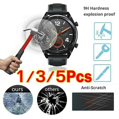 5pcs For Huawei GT Watch Real Tempered Glass Screen Protector Film HQ CA RR