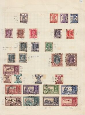 INDIA. 1939-40 Collection on Old Album Page stamps removed for shipping..