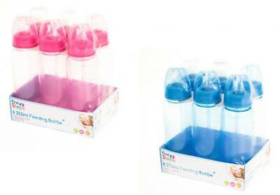First Steps BPA Free Set of 6 250ml Plastic Baby Feeding Bottle