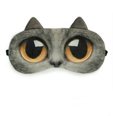 E8 Cat Cotton Originality Animals Sleeping Eye Mask Travel Eyepatch 1 Pcs A