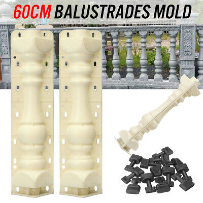 Mould Balustrades Mold For Concrete Plaster Garden Patio Baluster Cement Casting
