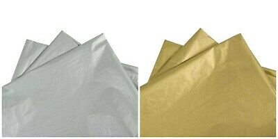 Metallic Silver & Gold High Quality Tissue Paper Acid Free Coloured Wrapping