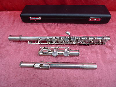 Fine,Old Transverse Flute __ Aubert S 210__925 Sterling-Silber __67cm__ with Box