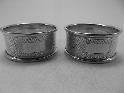 Excellent Pair HM Silver Napkin Ring (532a) - Birm 1967 Broadway - Not Engraved