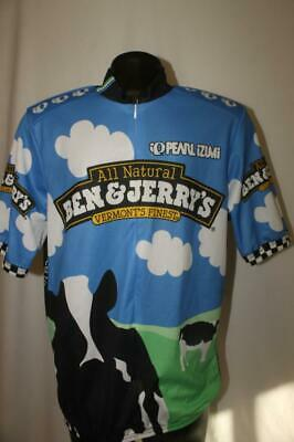 Pearl Izumi Ben   Jerry s Ice Cream Cycling Jersey Shirt VERMONT S adult  LARGE L 7e8179e17