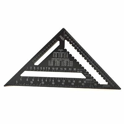 """12"""" Aluminium Speed Square Black Measuring Rafter Roofing Triangle Joinery TE9"""