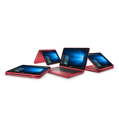 """Dell 11.6"""" 2-in-1 Laptop 1.6GHz 4GB 32GB Windows 10 (i3185-A982RED)"""