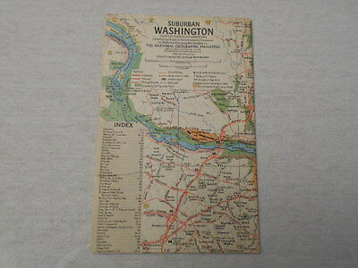 1964 Map Of Suburban Washington National Geographic (46)