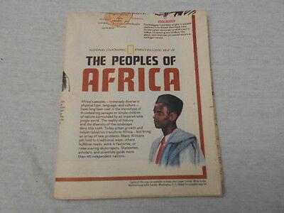 1971 Map Of The Peoples Of Africa National Geographic (27)