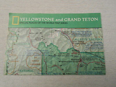1989 Map Of Yellowstone National Park National Geographic (39)