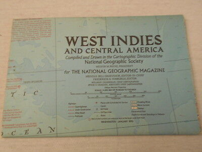 1970 Map Of West Indies And Central America National Geographic (76)