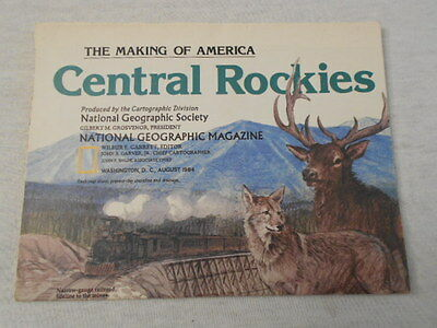 1984 Map Of Central Rockies National Geographic (71)