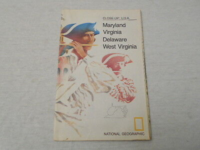 1976 Map Of Maryland Virginia Delaware West Virginia National Geographic (44)