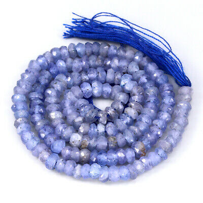 40.15ct. 100%natural Top Rich Blue Violet Tanzanite Bead Necklace 14 Inch Gem