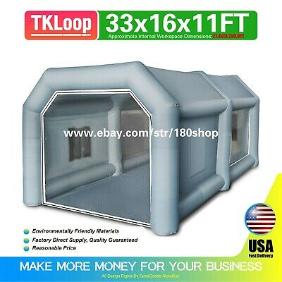 Inflatable Spray Booth Custom Tent Car Paint Booths Inflatable Car (33x16x11Ft)