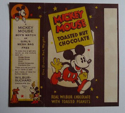 1930's E-UNC Wilbur Chocolate Mickey Mouse Large wrapper Horace Horsecollar