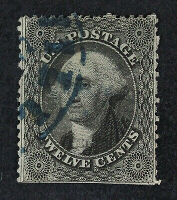 CKStamps: US Stamps Collection Scott#36 12c Washington Used Pulled Perf Trimmed