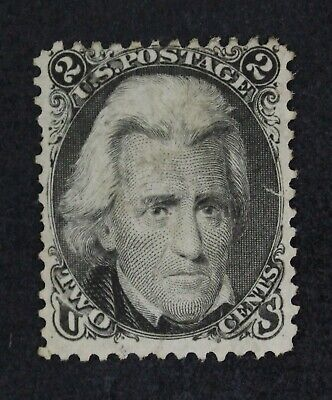 CKStamps: US Stamps Collection Scott#73 2c Jackson Unused NG Tiny Tear Thin