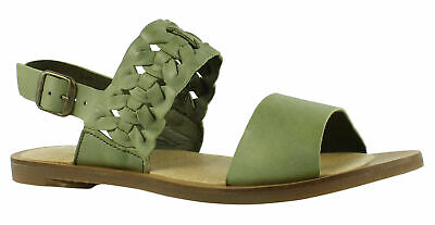 ca3521b97011f5 EL NATURALISTA SHOES Green Leather Stitched Spain Loafer Flats 39 8 ...