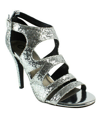 7b9521256ad6 MICHAEL ANTONIO WOMENS Silver Kimiko-Met Gladiator Sandals Shoe Boot ...