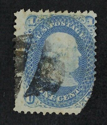 CKStamps: US Stamps Collection Scott#92 1c Franklin Used Tear Off, Thin CV$450