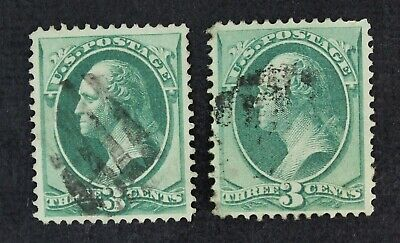 CKStamps: US Stamps Collection Scott#136 (2) 3c Washington Used 1 Light Crease