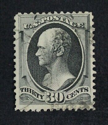 CKStamps: US Stamps Collection Scott#165 30c Hamilton Used Tiny Thin CV$140