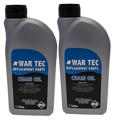 WAR TEC 2 Litres Of Chainsaw Chain Oil. For Oil Pump, Guide Bar On STIHL Saws