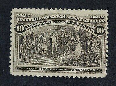 CKStamps: US Stamps Collection Scott#237 10c Columbian Unused LH Appear Regum
