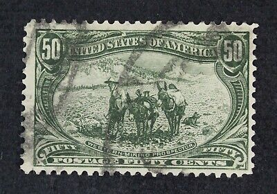 CKStamps: US Stamps Collection Scott#291 50c Used Tiny Thin Lightly Crease $200