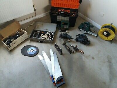 Job lot of power tools and hand Tools, tool boxes and bags