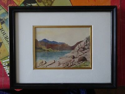 Signed George Robert Bruenech (1851-1916) Canadian Watercolor Painting