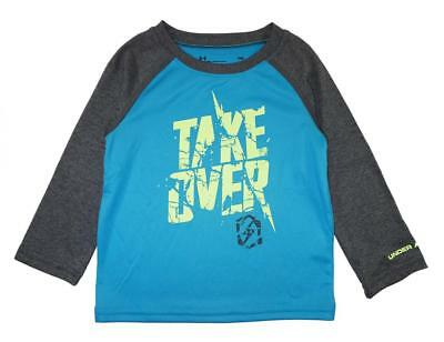 Under Armour Infant Boys Turquoise Take Over Dry Fit Top Size 18M