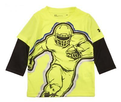 Under Armour Infant Boys Hi Vision Yellow Football Player Dry Fit Top Size 24M