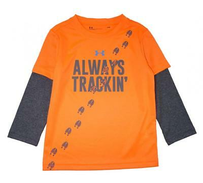 Under Armour Infant Boys Orange Always Tracking Dry Fit Top Size 24M $25.99