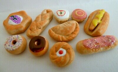 Dolls House Miniature Food 1:12 10 Piece Mixed Sweet Food Bundle Combined P+P