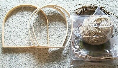 3 Handles And Seagrass For Basket Weaving