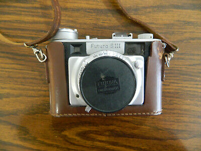 Futura Siii 35Mm Rangefinder Camera Made In Germany In Brown Leather Case