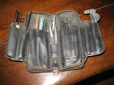 Vintage H.p.c. Lock Picking Tools With Leather Case