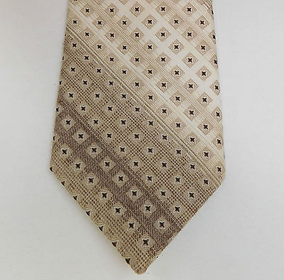 Country tie by Tootal vintage 1960s mens wear Rough tweedy texture striped
