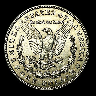 1921 S ~**ABOUT UNCIRCULATED AU**~ Silver Morgan Dollar Rare US Old Coin! #427