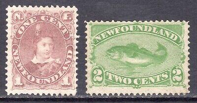 NEWFOUNDLAND 1880-82 New Designs 1c and 2c un., SG 44b,46 cat £115