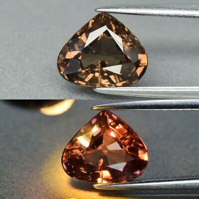Rare! 2.46ct 9.4x8mm Pear Natural Unheated Color Change Garnet, Africa