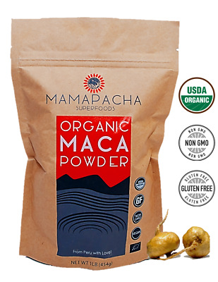 Maca Powder Organic Raw 1LB (454g) USDA Certified Premium Peruvian Yellow Maca