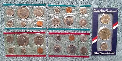 22 Assorted Uncirculated Sets (1969-1984) in Original US Mint Holders: See List.