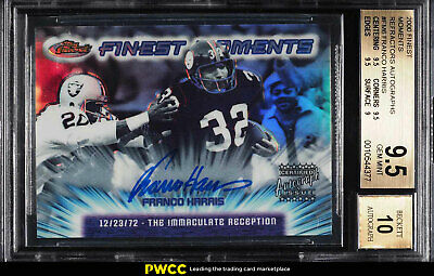 2000 Finest Moments Refractor Franco Harris AUTO #FM6 BGS 9.5 GEM MINT (PWCC)